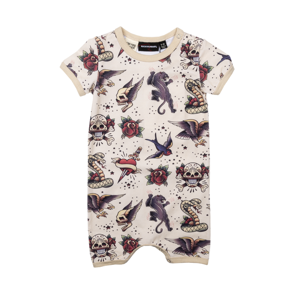 TATTOO YOU PLAYSUIT - OATMEAL
