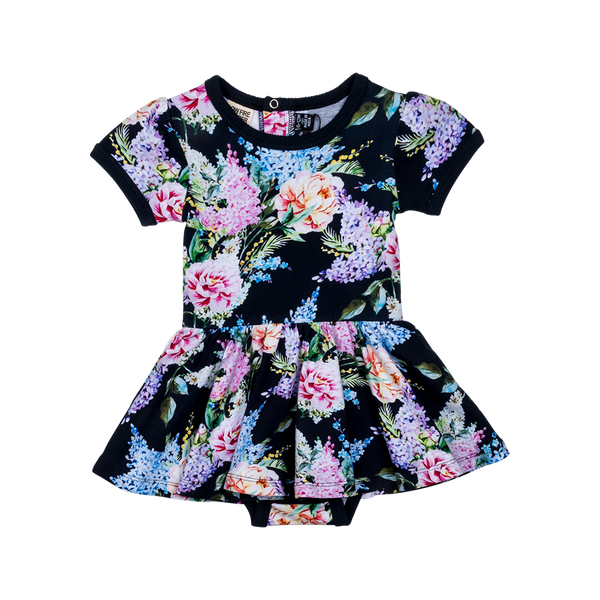 Wisteria Short Sleeve Baby Waisted Dress