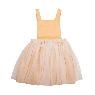MUSTARD PINAFORE DRESS (ORGANIC)