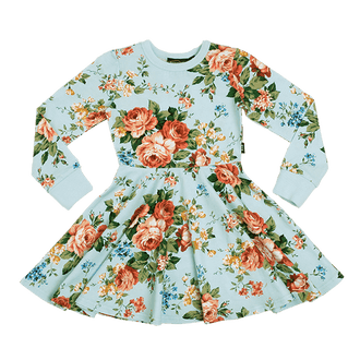 FRENCH FLORAL WAISTED DRESS