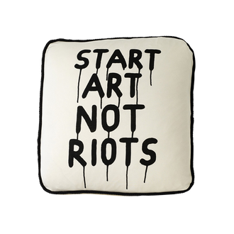 START ART NOT RIOTS CUSHION COVER