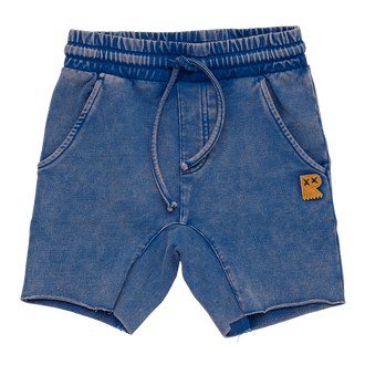 BLUE WASH SMASH SHORTS