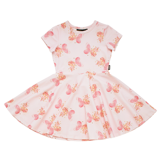 BUTTERFLY KISSES WAISTED DRESS