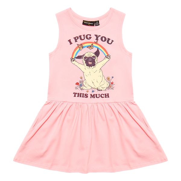 I PUG YOU THIS MUCH SLEEVELESS DROP WAIST DRESS