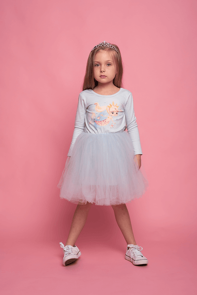 UNDER THE SEA FLOUNCE DRESS