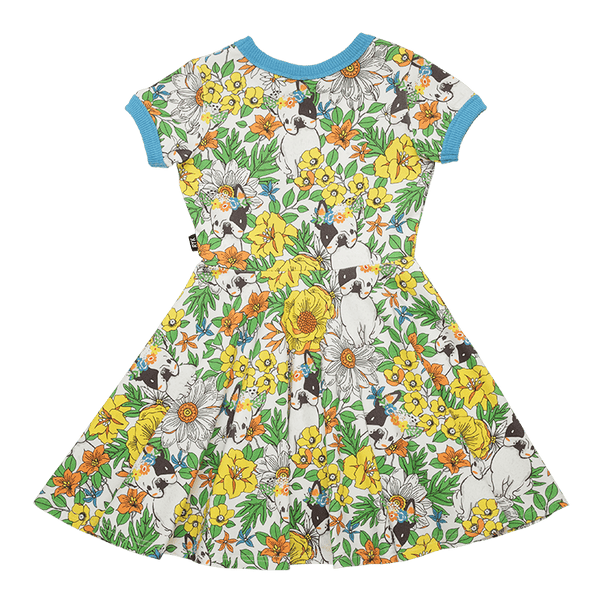 FRENCHIE FLORAL RINGER WAISTED DRESS