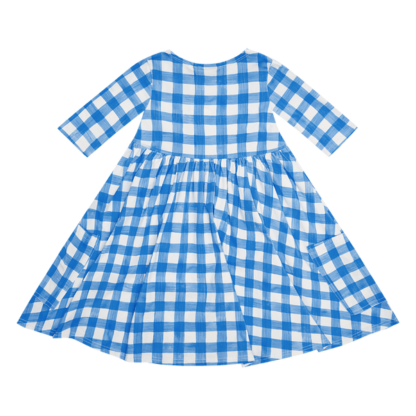 BLUE GINGHAM FAYE DRESS