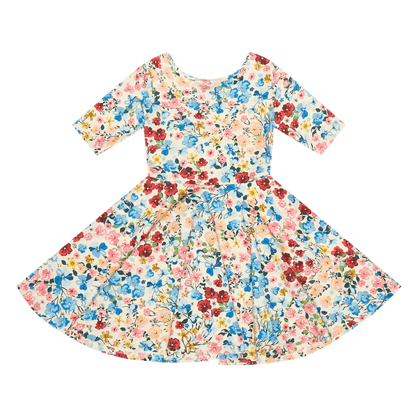DITSY FLORAL WAISTED DRESS