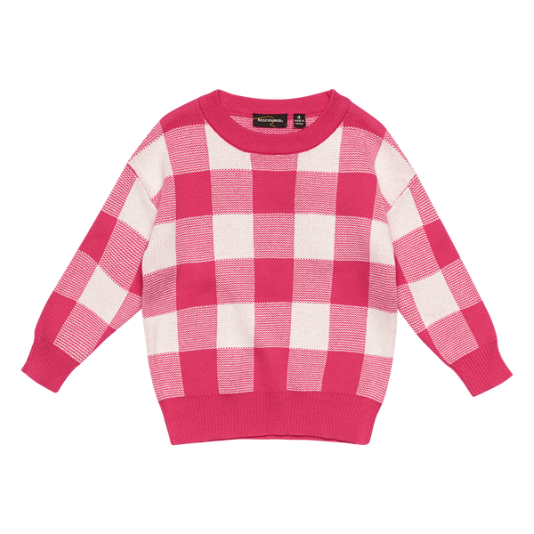 PINK/WHITE KNIT SWEATER