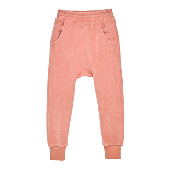 MUSK PINK TERRY TOWELLING TRACK PANTS
