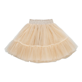 CREAM GLITTER TULLE SKIRT