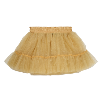 GOLD GLITTER TULLE SKIRT