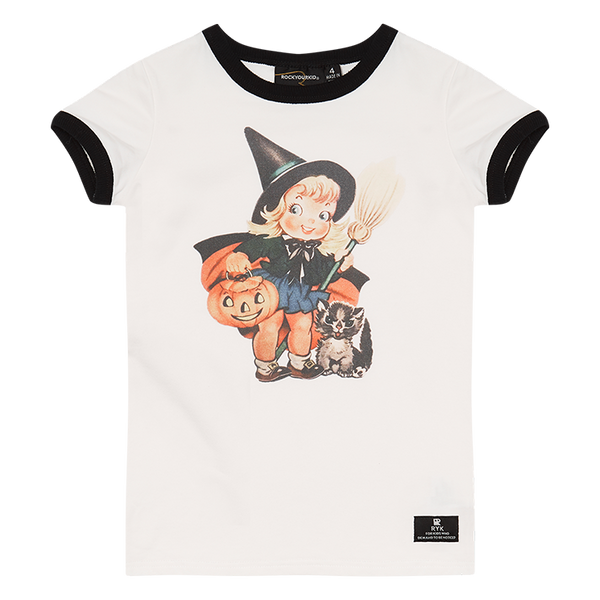 TRICK OR TREAT RINGER T-SHIRT