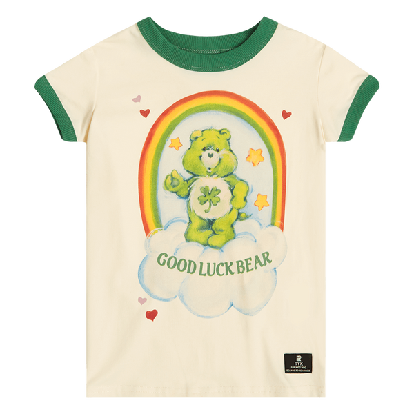 GOOD LUCK BEAR RINGER T-SHIRT