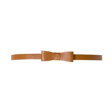 TAN BOW BELT