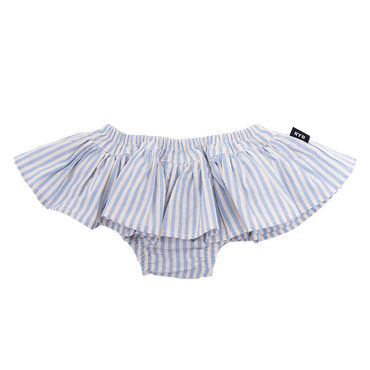 BLUE STRIPE BABY BLOOMERS