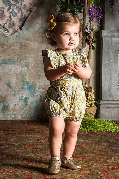 SPRING FLORALS BABY SUNSUIT