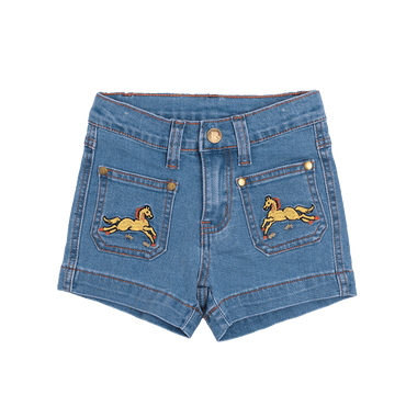 PONY RAMBLER DENIM SHORTS