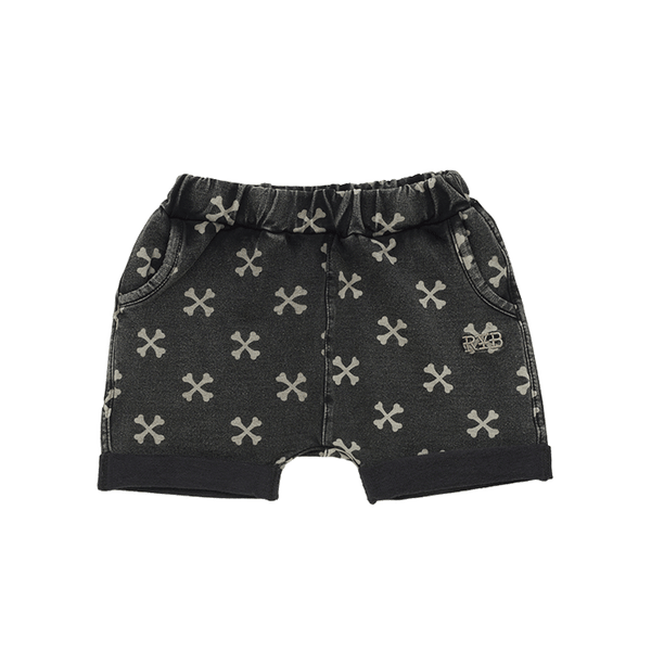 CROSS BONE BABY SHORTS