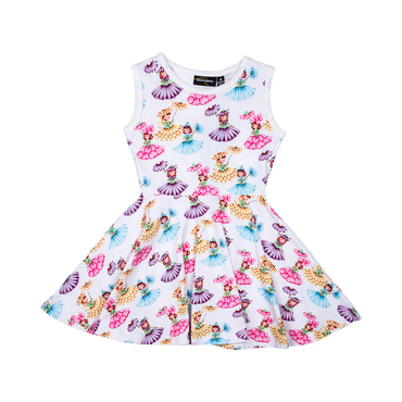 PARASOL GIRLS SINGLET WAISTED DRESS