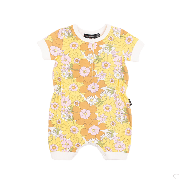FLOWER POWER BABY PLAYSUIT