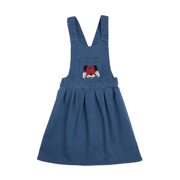 MINNIE MOUSE PATCH PINAFORE DRESS