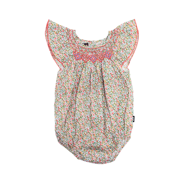 SALLY SMOCK BABY ROMPER