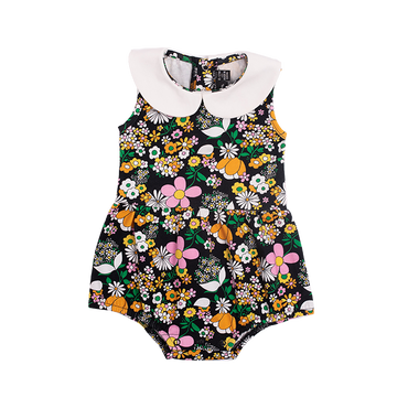 JEAN PETER PAN COLLAR BABY BODYSUIT