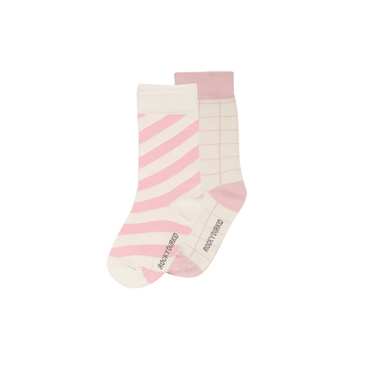 STRIPE SOCKS PINK TWO PACK
