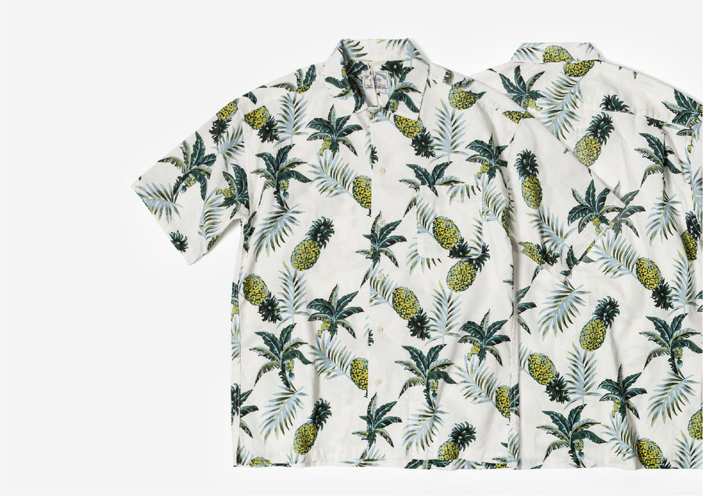 46f4d7b2 Pineapple Print Hawaii Shirt - White – Island Scouts Clothing