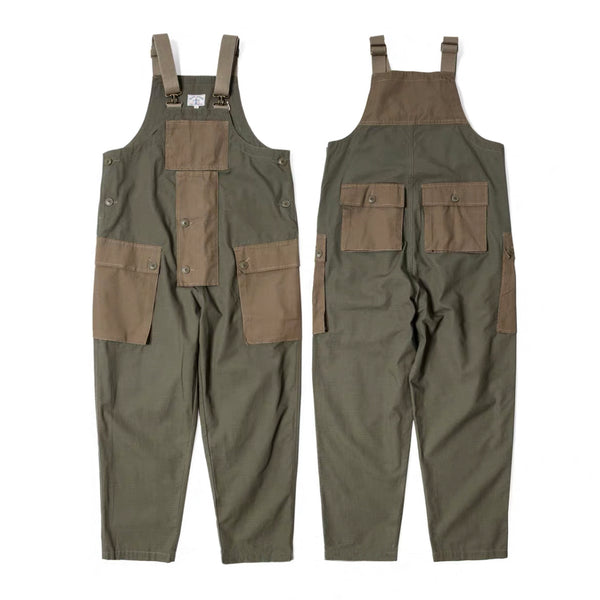 Cotton Ripstop British Worker Overall - Army Green