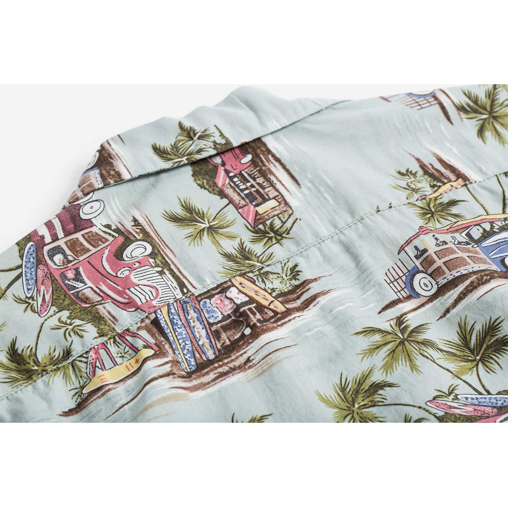 Beach Print Hawaii Shirt  -Blue