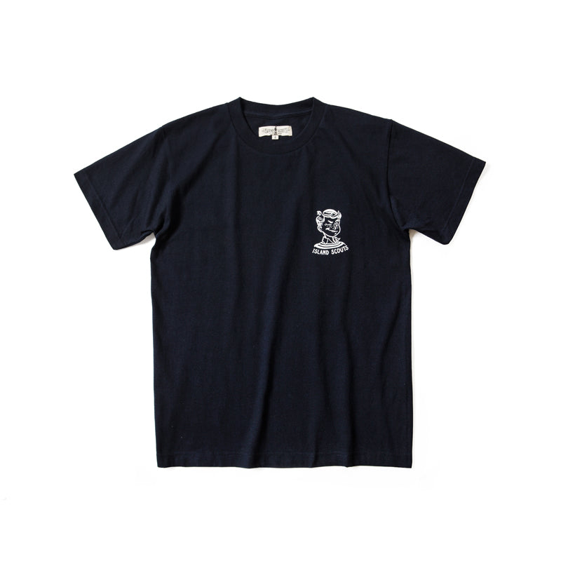 Island Scouts Tubular Cotton Tee In Scouts Print in White/Navy