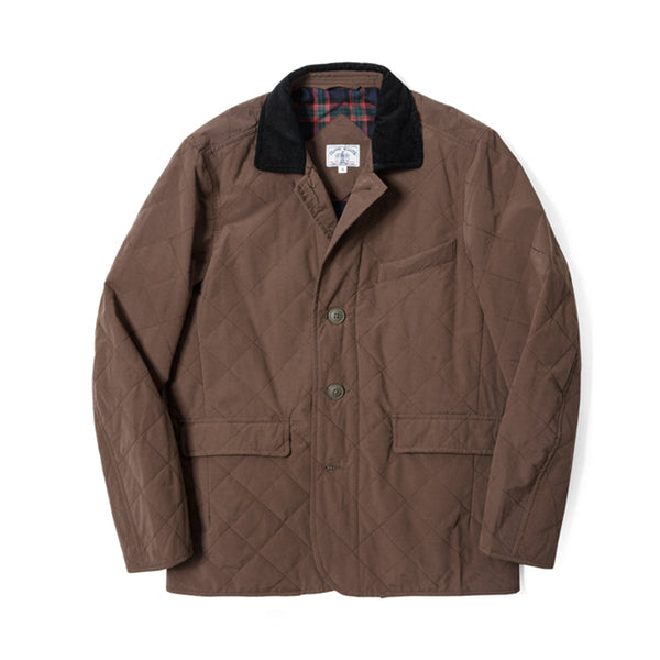 Water Repellent Quilted Blazer Jacket - Olive