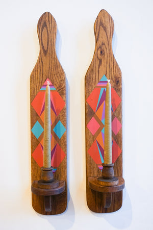Opposites Attract | Vintage Sconce Set