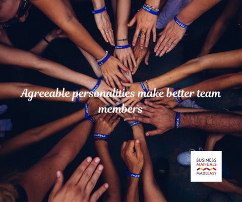 Staff with agreeable personalities make better team members