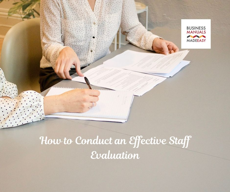 How to Conduct an Effective Staff Evaluation