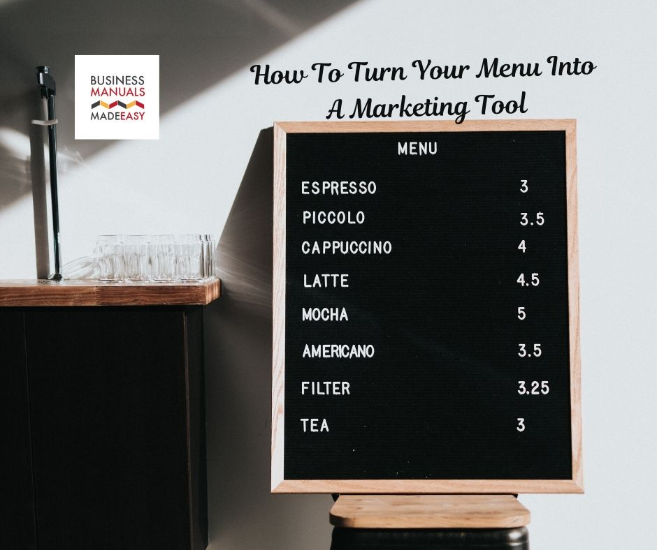 How to Turn Your Menu Into a Marketing Tool