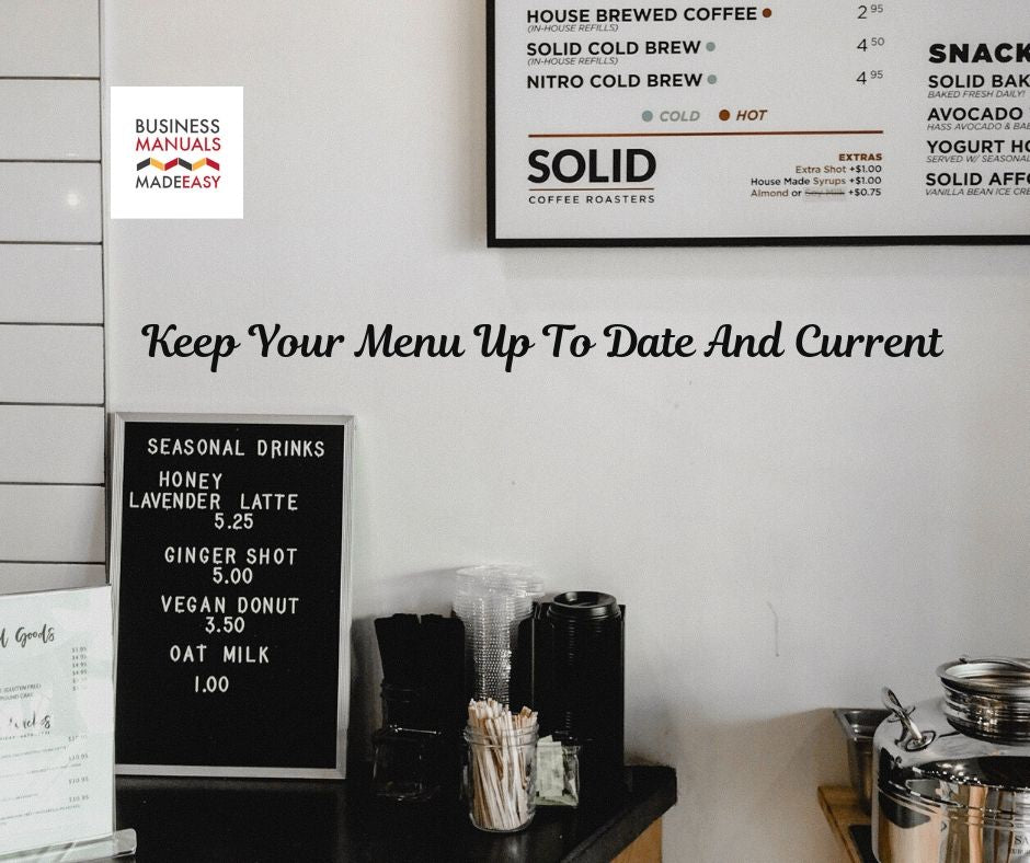 Keep Your Menu Up To Date And Current