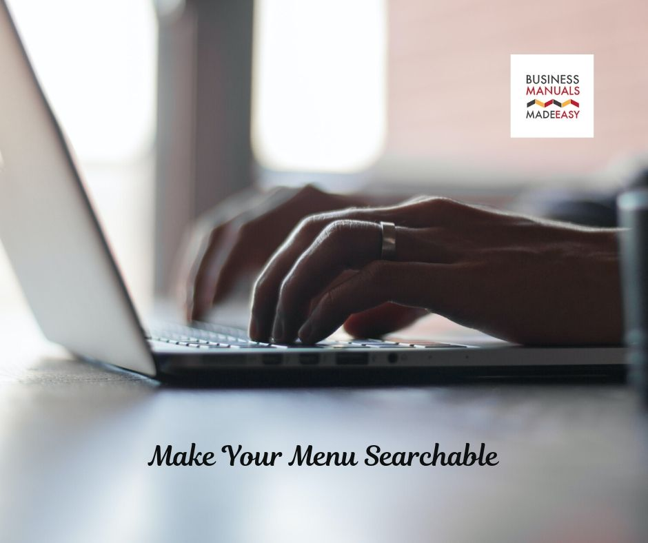 Make Your Menu Searchable