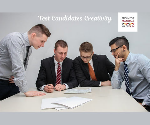 Test Candidates Creativity