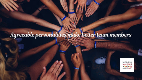 Agreeable personalities make better team members