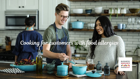 Cooking for customers with food allergies
