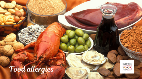 What are the foods that commonly cause food allergy?