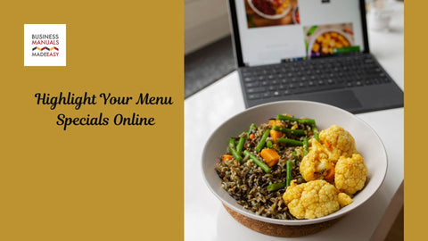 Highlight Your Menu Specials Online