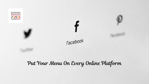 Put Your Menu On Every Online Platform