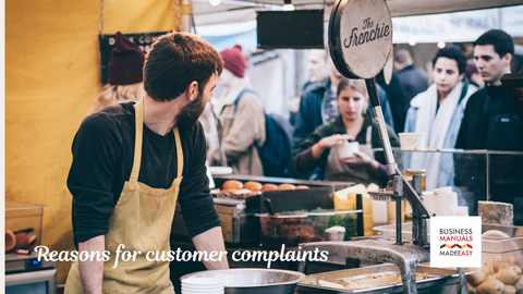 Reasons for customer complaints