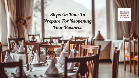 Steps On How To Prepare For Reopening Your Restaurant