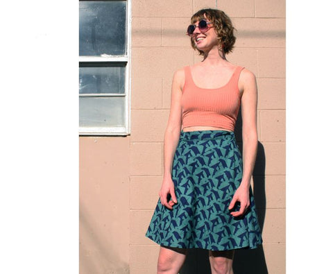 Wrap Skirt - Geo (Navy) - ORGANIC