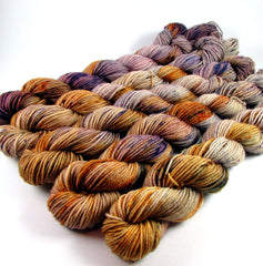 Harvest Moon colorway by Dye is Cast Yarns